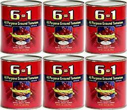 6 in 1 All Purpose Ground Tomatoes 28 oz (Pack of 6)