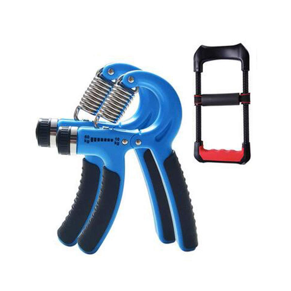 Jiansheng Hand Grip, Professional Training Hand Man's Training Arm Muscle Rehabilitation Training Finger Strength Wrist Strength Fitness Device, Red Color (3 Piece Suit) (Color : Blue)