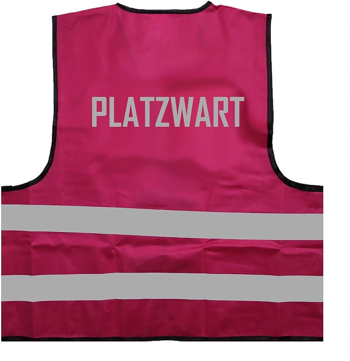 ID: 033 PLATZWART Reflex Signalweste Warnweste mit reflektierendem Aufdruck Einheitsgr/ö/ße bis XXL