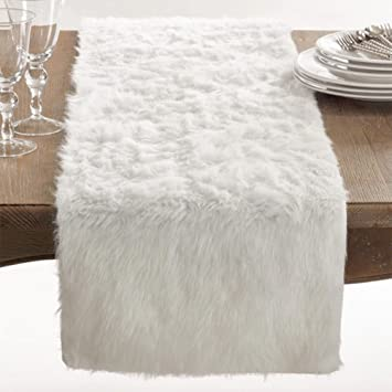 Juneau Faux Fur Table Runner, ...
