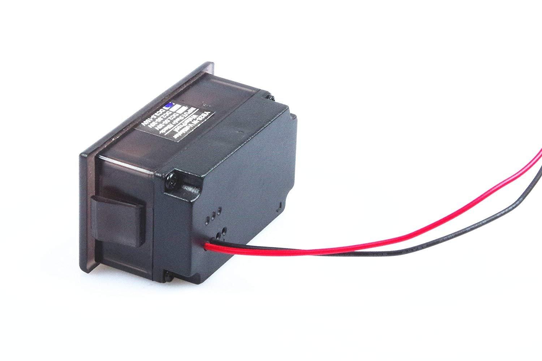 Waterproof Monitor 2-Wires DC 3.5-150v 12v 24v 36v 72v 96v Volt Battery Meter Voltage Tester Automative Electric Cars Gauge Small Digital Voltmeter BLUE 0.52'' LED Display by TOFKE (Image #5)
