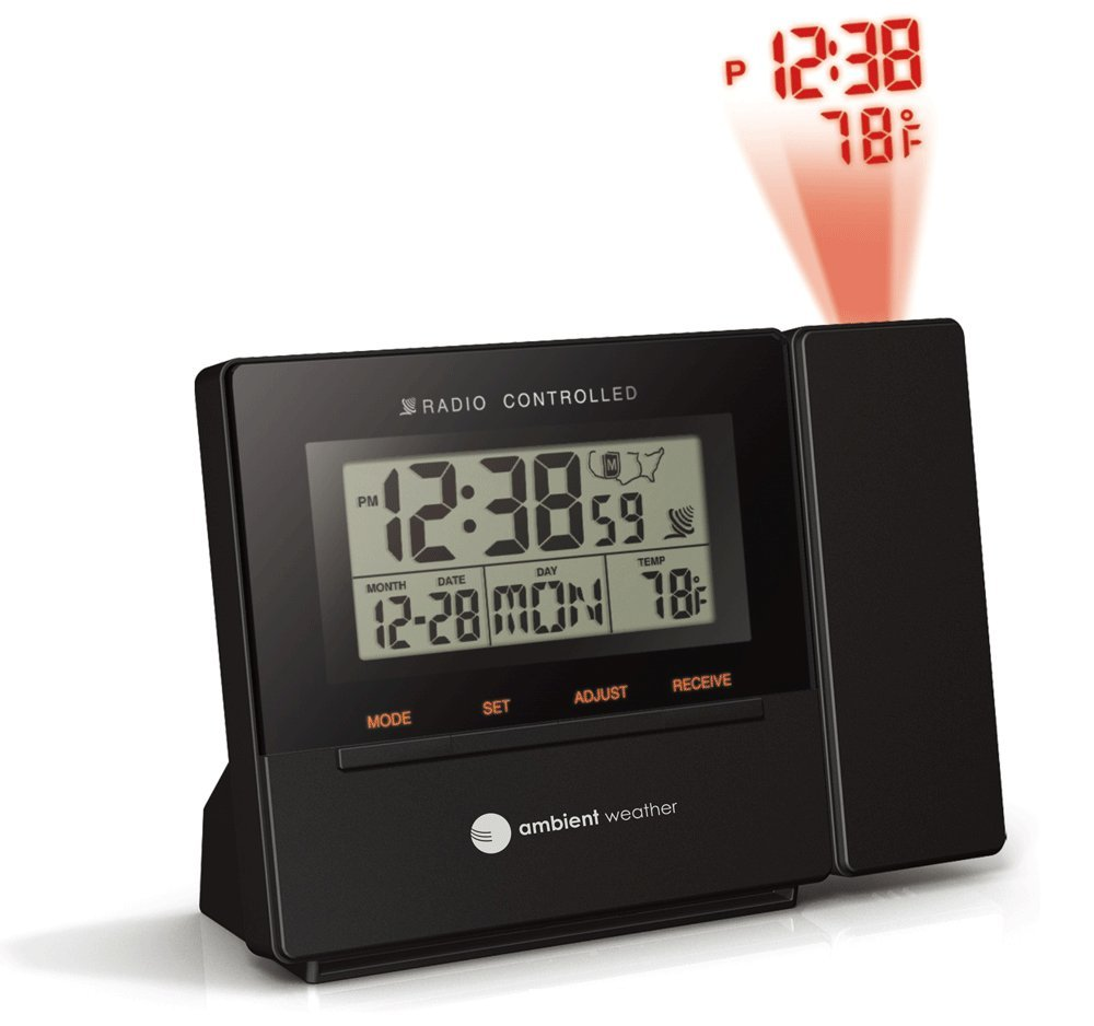 Amazon ambient weather rc 8427 radio controlled projection amazon ambient weather rc 8427 radio controlled projection alarm clock with indoor temperature home kitchen amipublicfo Gallery