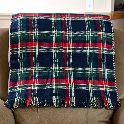 Price comparison product image HDE 4-in-1 Oversized All Season Cozy Soft Couch Throw Blanket Flannel Fleece