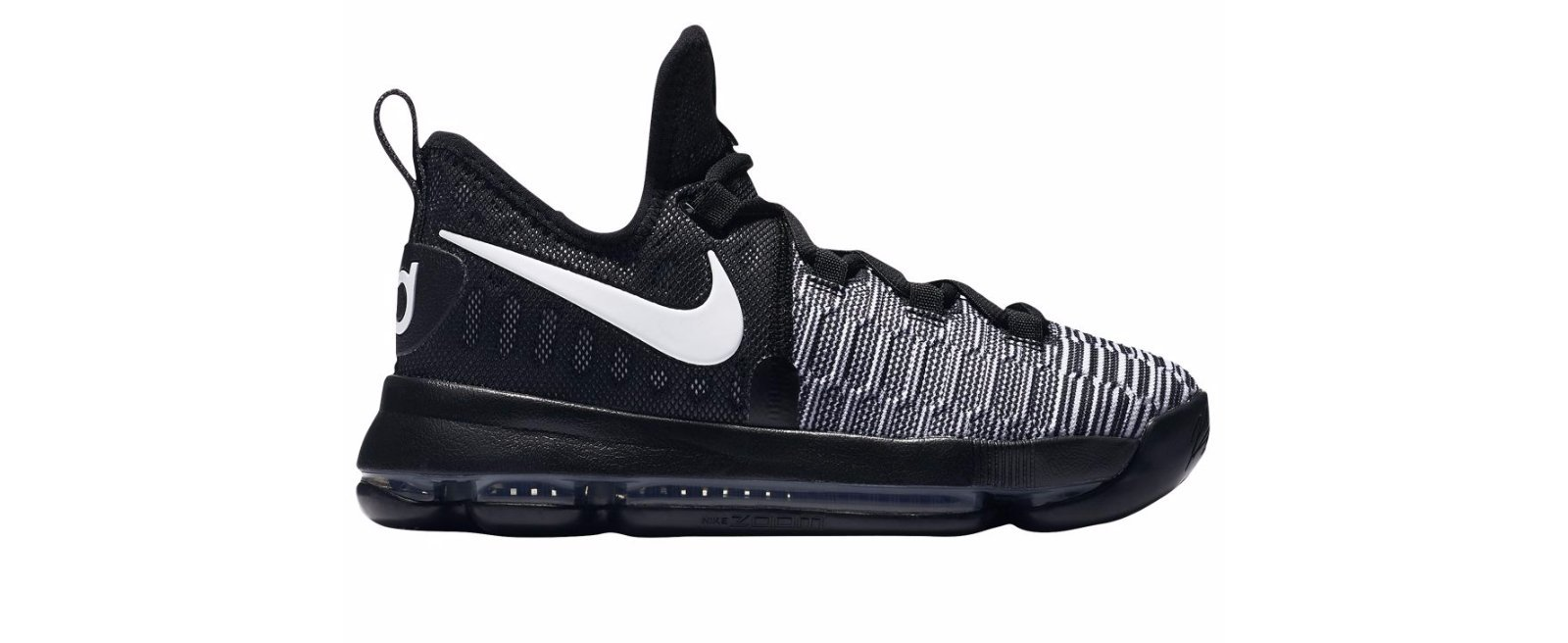 Nike Zoom KD9(GS) Big Kids Basketball Shoes Black/White 855908-010 (5.5 M US)