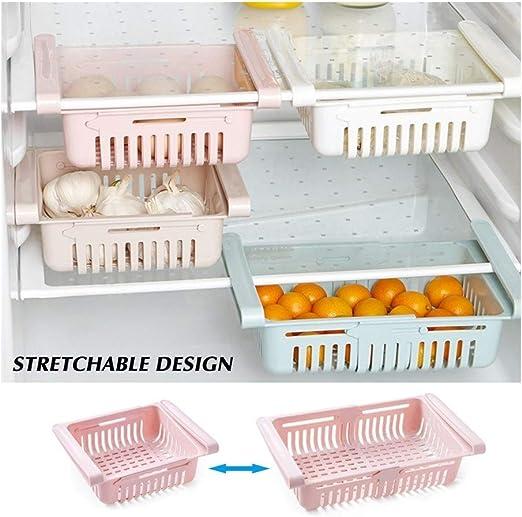 Adjustable Fridge Drawer Holder Organizer Basket RackRack Kitchen Storage New