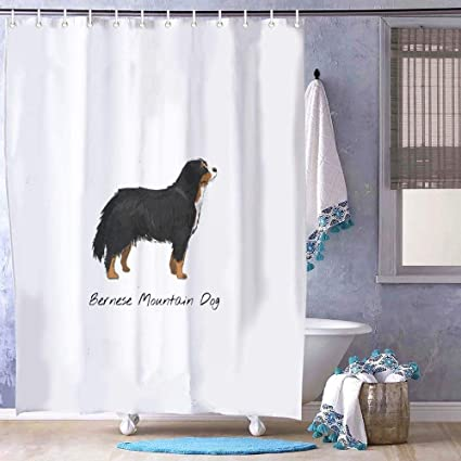 Fabricmcc Shower Curtain Bath Curtain 36 X 72 Bernese Mountain Dog Surreal Bathroom Decor Amazon Co Uk Kitchen Home