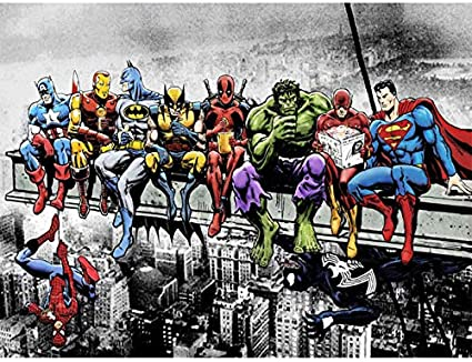 DIY 5D Diamond Painting by Number Kit for Adult 30x40cm,The Avengers Spiderman Full Drill Diamond Embroidery Kit Home Wall Decor-26