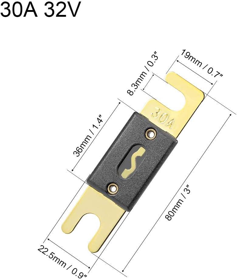 sourcing map 2 St/ück ANL Sicherung 30 Amp DC 32 Volt f/ür Kfz Kfz Audio Verst/ärker Wechselrichter