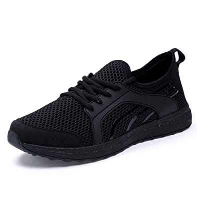 e18c25817f8be4 Amazon.com | ZOCAVIA Women's Casual Sneakers Ultra Lightweight Breathable  Mesh Sport Walking Running Shoes, Black, 11 B(M) US | Road Running