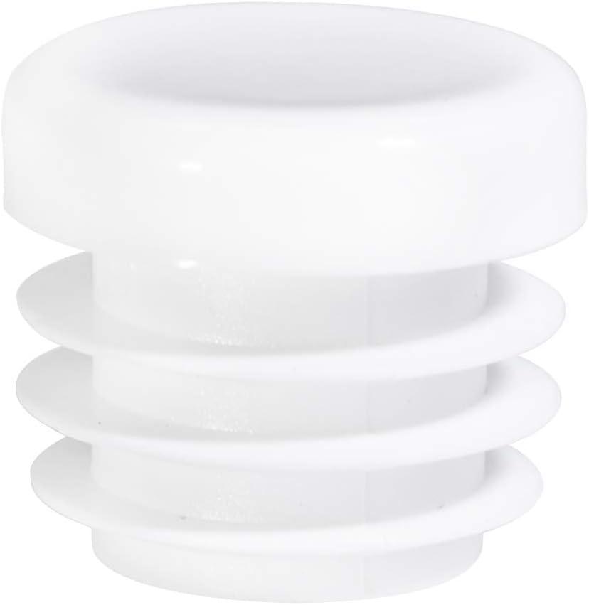 20 Durable Chair Glide Prescott Plastics 3//4 Inch Round White Plastic Plug Tubing End Cap
