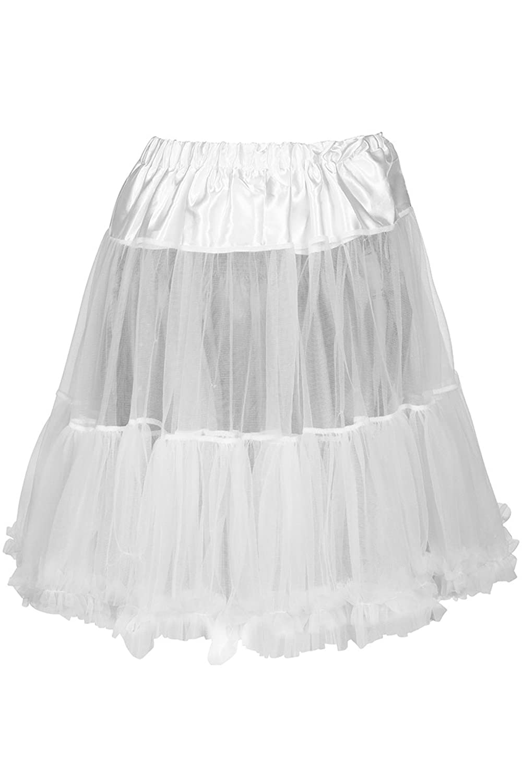 Damen MarJo Dirndl Unterrock Petticoat weiß 55cm, weiß,