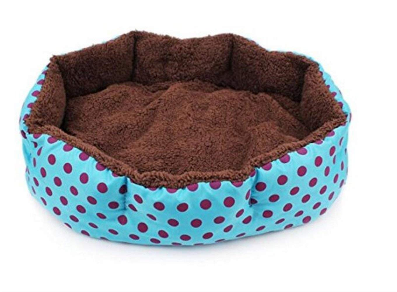 IANXI Home Pet Cat Puppy Dots Pattern Nest Mat Bed Pet Kennel House (bluee) for Cat Dog