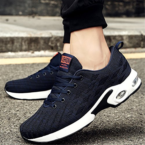 H-Mastery Mens Breathable Trainers Athletic Walking Running Gym Shoes Sporting Shoe Bluck kjKtoX
