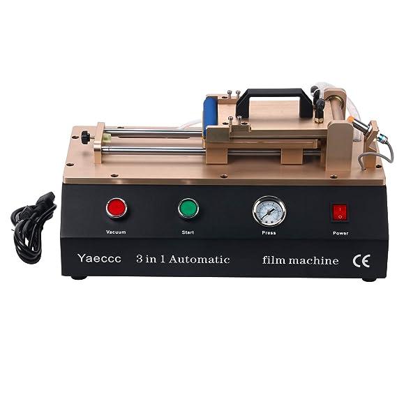 3 in 1 Laminating Machine Built in Vacuum Pump and Compressor Automatic Laminating Machine 7 inch
