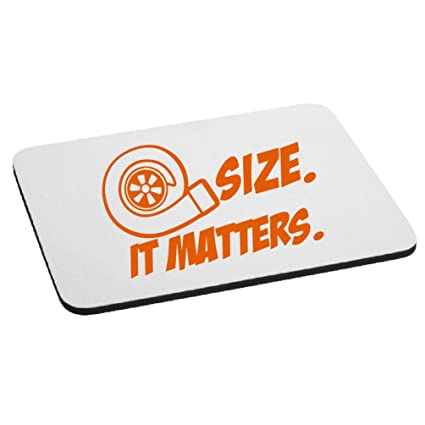 JDM Size Matters Turbo Boost Mouse Pad - Orange