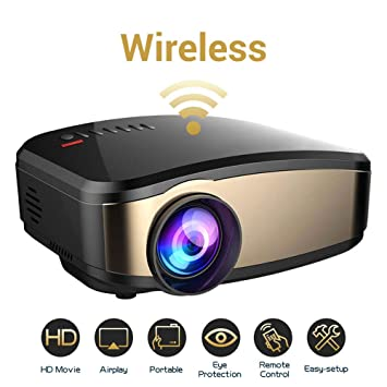 TLgf Proyector de vídeo WiFi, Weton 50% más Brillante película ...