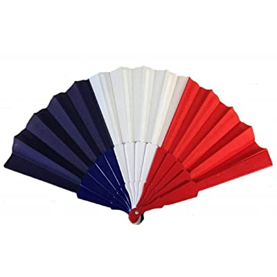 1 EVENTAIL FRANCE BLEU BLANC ROUGE SUPPORTER 43 X 22 CM MODE