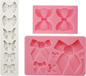 Chokov Bow Fondant Mold Candy Cake Silicone Mold for Sugar Craft Gumpaste Cake Decoration