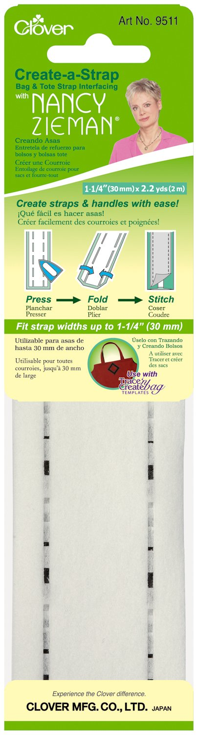 Clover Create-A-Strap W/Nancy Zieman Interfacing-1-1/4'X2.2yd