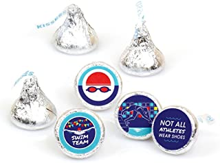 product image for Making Waves - Swim Team - Swimming Party or Birthday Party Round Candy Sticker Favors - Labels Fit Hershey's Kisses (1 Sheet of 108)