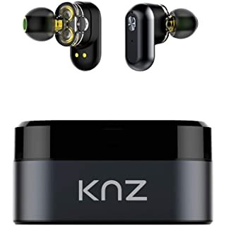 KNZ Technology KNZSNDFLXGRY Soundflux Dual-Driver Truly Wireless in-Ear Stereo Headphones (Gray)