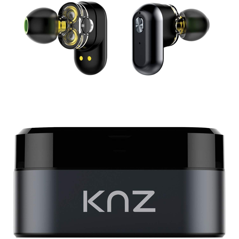 Tecnología Knz Knzsndflxgry Soundflux Dual-driver Auriculares Estéreo Verdaderamente Inalámbricos On-ear (gris)