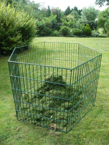 Sia Laub /& Rasenschnitt Komposter Hexagon /über 1.700 Liter F/üllvolumen gr/ün