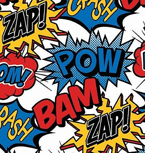 Superhero Comic Gift Wrap Flat Sheet - 24