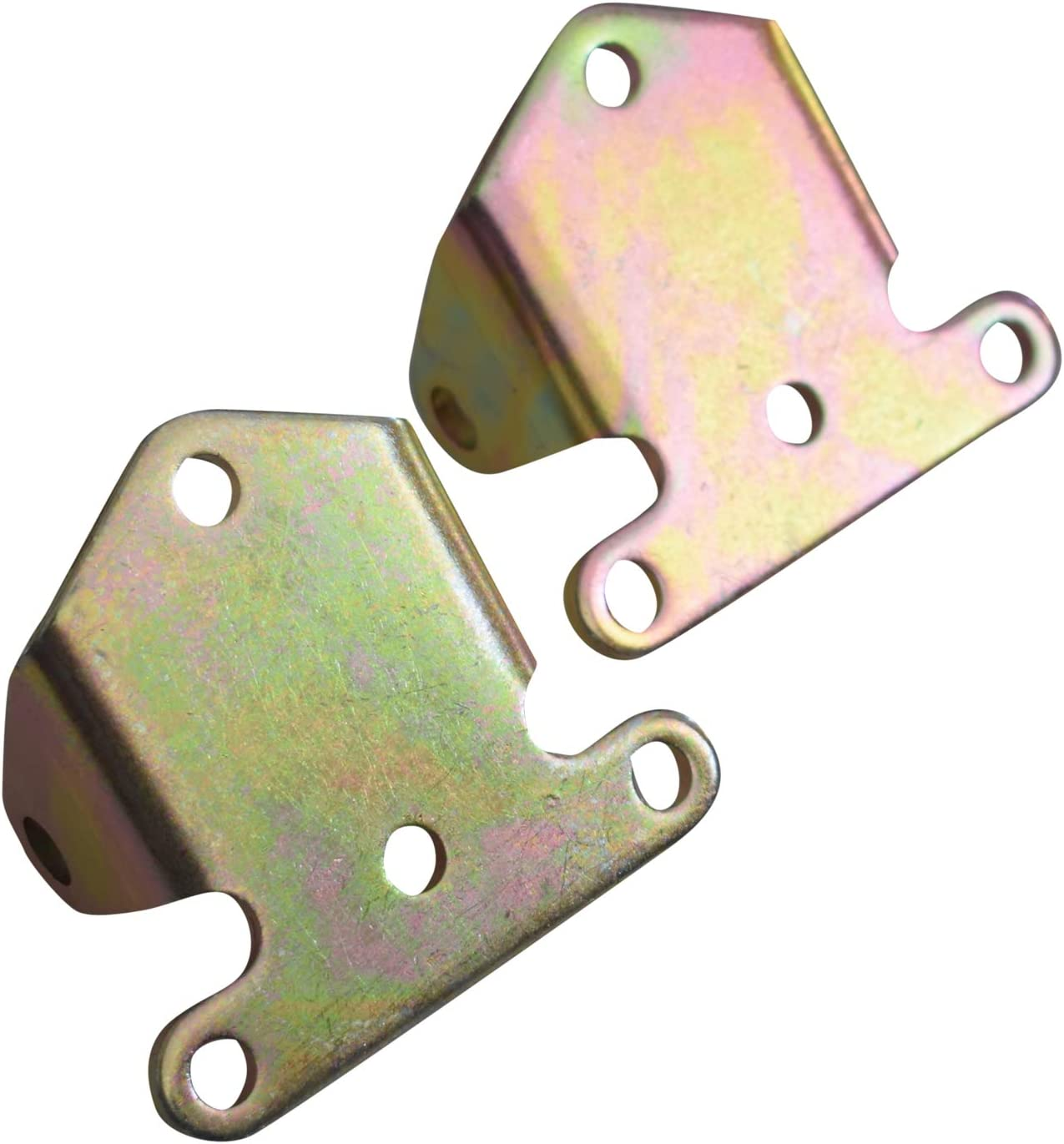 YANGCAN Compatible with Solid Motor Engine Mount Combo SBC Chevy Frame Mount Rat Rod Hot Street stock