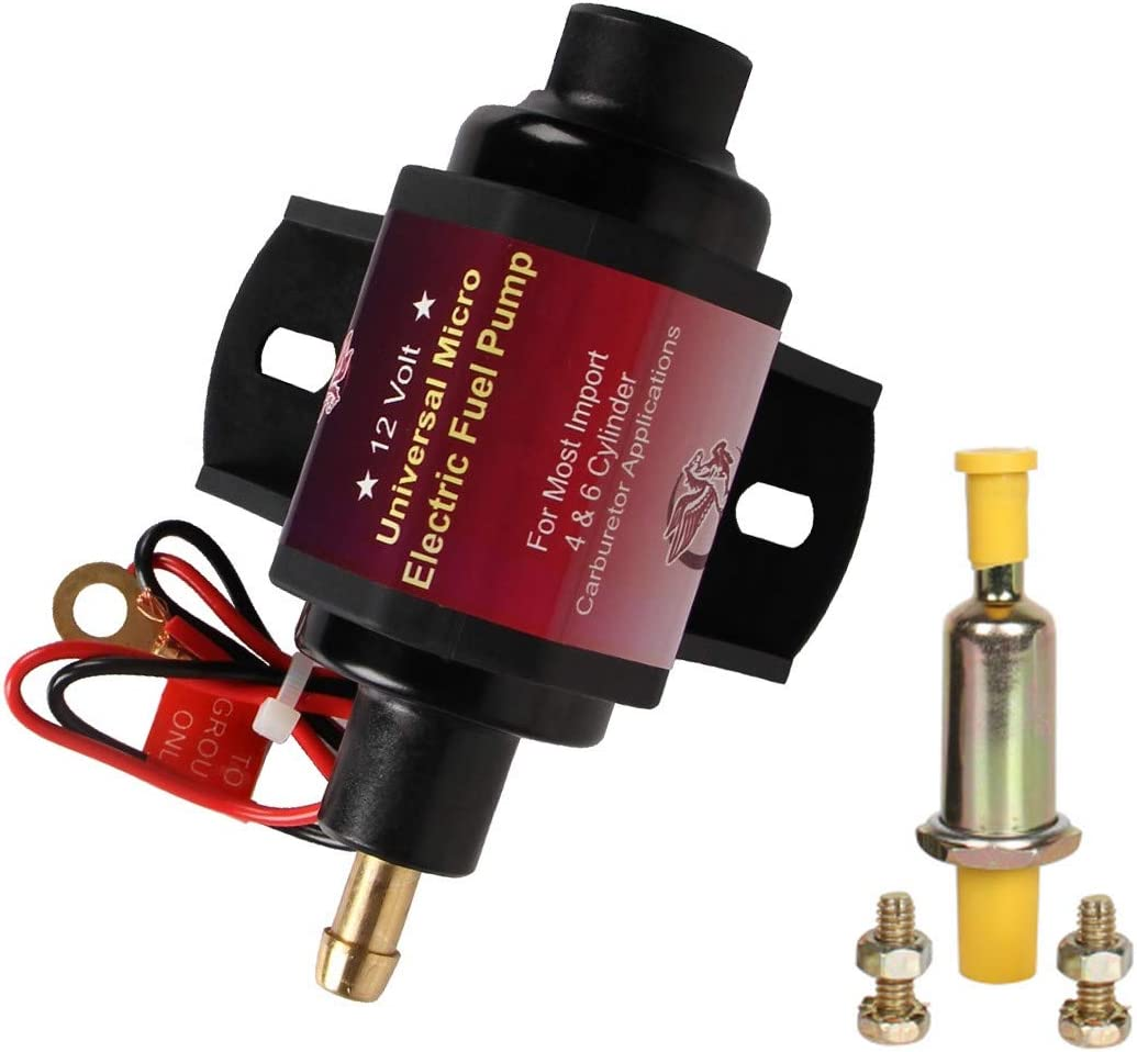 Bang4buck Solid UniversalElectric Fuel Pump 2-3.5 P.S.I. Heavy Duty for Gasoline Solid Petrol Vehicles 12 V, 5/16 Inch