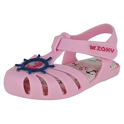 b13abd38e6cfb Zaxy Under The Sea Baby Light Pink Infant Girls Ankle Strap Size 5M