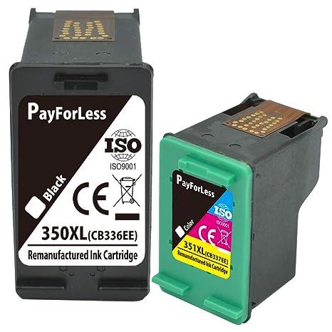 PayForLess 350XL 351XL Cartuchos de Tinta Compatible HP 350 351 ...