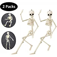 Deals on 2-Pk Halloween Decorations 16-in Full Body Human Skeleton