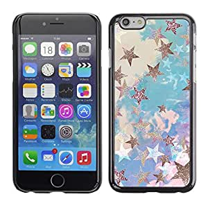 Plastic Shell Protective Case Cover || Apple iPhone 6 || Glitter Clouds Blue Purple @XPTECH