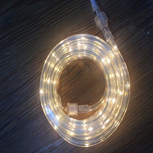 16' Rope Light (UL Certified 16 Feet 80 LED Connectable Rope Tube Light Indoor Outdoor Party Holiday Light Warm White)