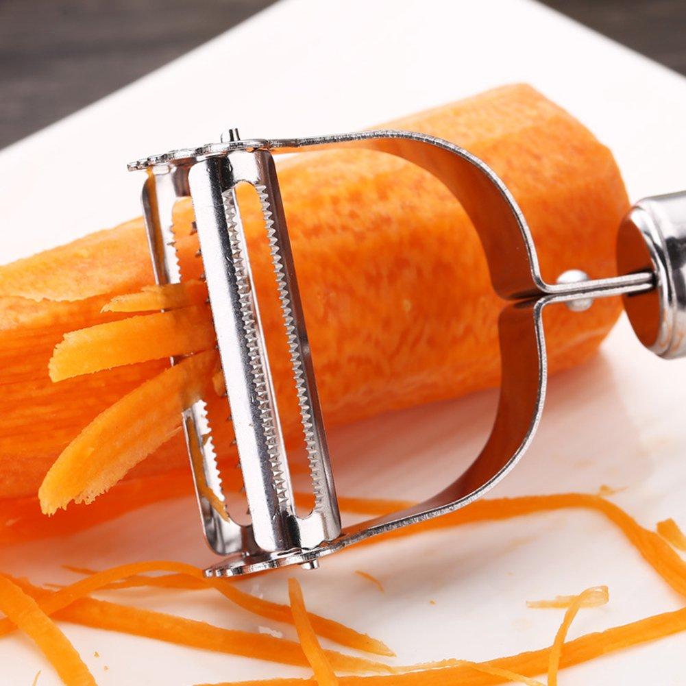 Pelaverdure julienne Peeler multifunzione lama in acciaio INOX taglierina per pelare frutta patate Apple pera
