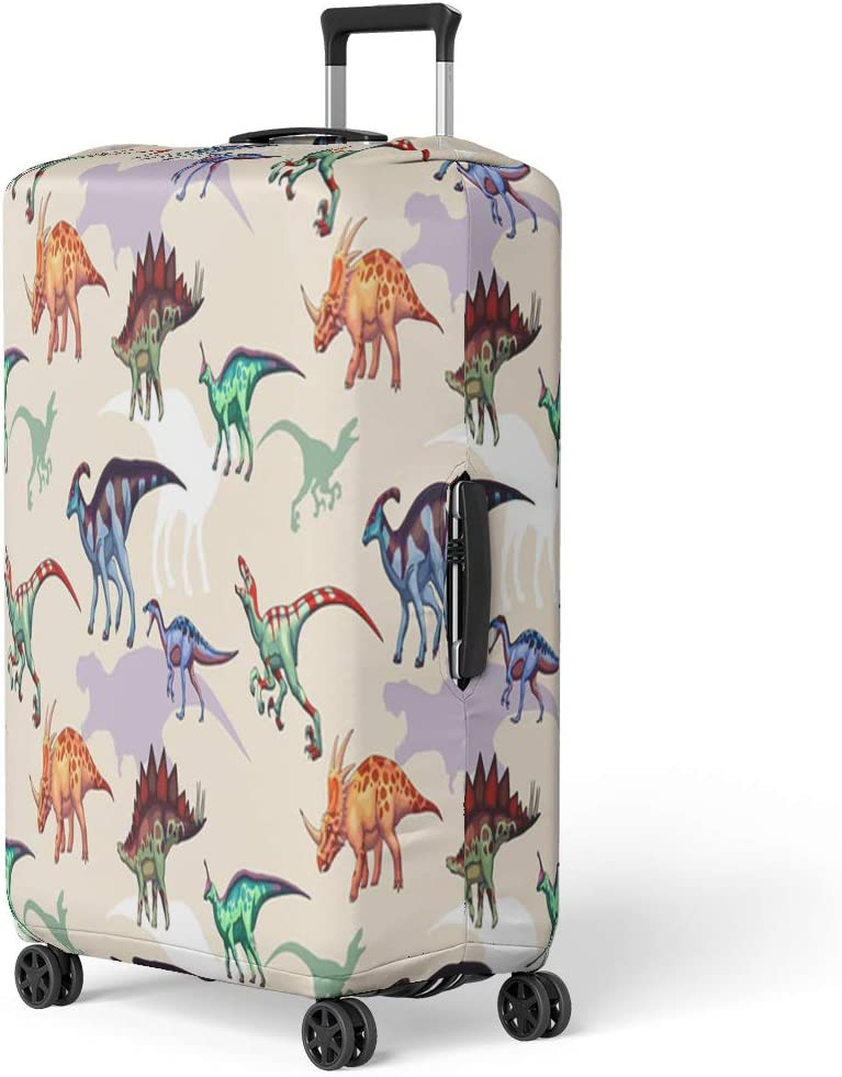 Pinbeam Luggage Cover Blue Flying Birds Crane Heron Japanese Pattern Oriental Travel Suitcase Cover Protector Baggage Case Fits 26-28 inches