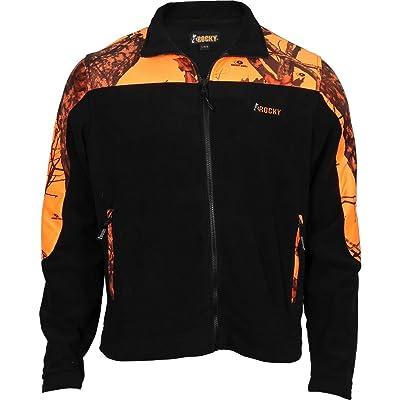 ROCKY Men's Silent Hunter Fleece Jacket, Mossy Oak Blaze Camouflage, Medium: Clothing