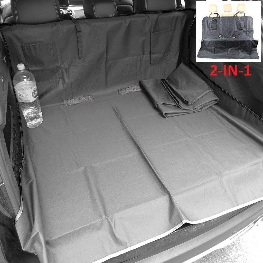 Boot Mat Liner 2in1 21BLK4835 Mr E Saver/© Waterproof Heavy Duty Rear Black Pet Dog Cat Seat Cover Protector Hammock