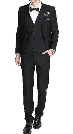 Amazon.com: XGSD - Traje para hombre de 3 piezas (chaqueta + ...