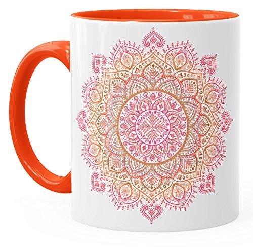 Kaffee-Tasse Mandala Ethno Boho Kaffeetasse Teetasse Keramiktasse mit
