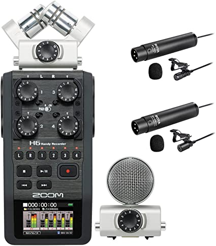 Amazon Com Zoom H6 Handy Recorder Interview Microphone Kit With