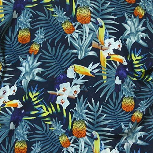 アロハシャツ 花柄 オオハシ オープンカラー 半袖 メンズ レディース [並行輸入品]