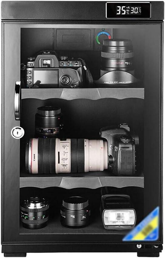 CHenXin- Gabinete Seca Control electrónico de deshumidificación electrónico Armario de Secado Adecuado for la cámara de Lente y Otro Equipo fotográfico, 50L, 60L (Size : 60L Digital Display)