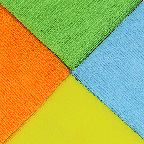 150 Pack - SimpleHouseware Microfiber Cleaning Cloth, 4 Colors by Simple Houseware (Image #2)