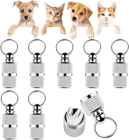 Yangfei 8pcs Etiquetas de Mascotas Etiqueta de Perro y Gato Placas de Identificación para Perros Etiquetas Personalizadas para Perros y Gatos, Evitar la Pérdida de Mascotas (Color Plata,con Papel): Amazon.es: Productos para