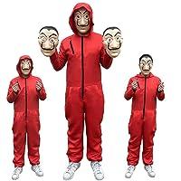 Cosplay de niños adultos Traje de La Casa De Papel Dali Dali Rojo One Piece traje de máscara de traje rojo grande/disfraz de Halloween/fiesta de disfraces