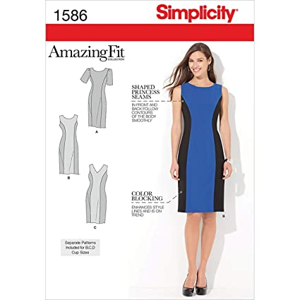 faf004a189dae Simplicity Sewing Pattern 1586  Misses  and Plus Amazing Fit Dress ...