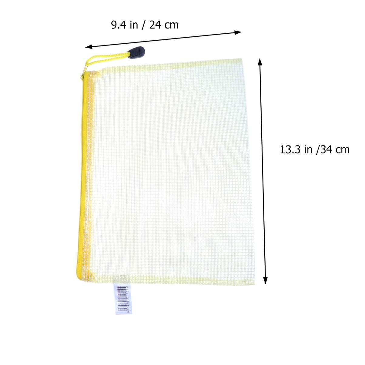 LIOOBO 12 pcs a4a5a6 fichier Sacs Sac de Stockage de Dossier Transparent Portable pour l/école de Bureau