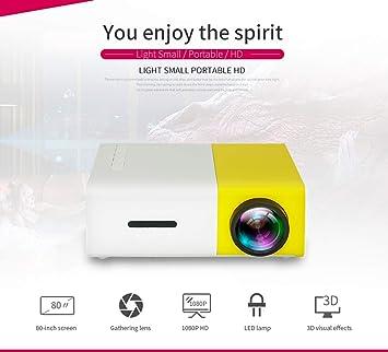 Tous Mini proyector doméstico Y300, HD 1080P, Fuente de luz LED de ...